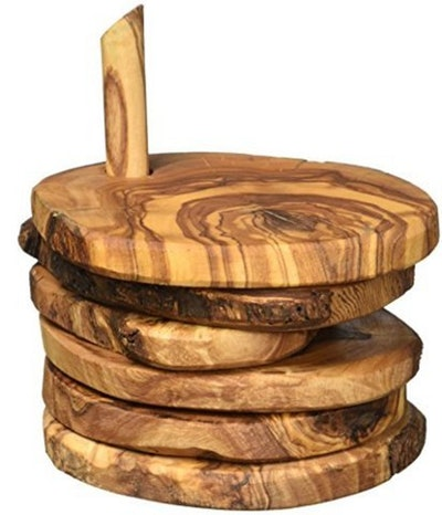 Naturally Med Olive Wood Coasters (Set of 5)