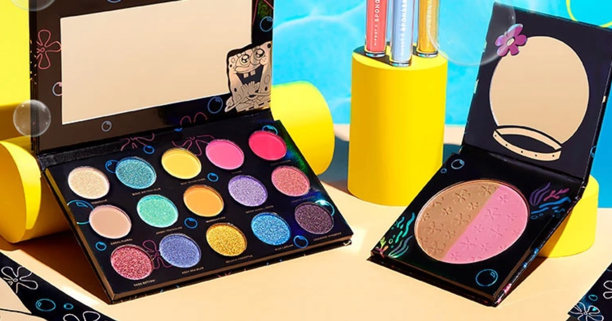 Where To Get HipDot's SpongeBob SquarePants Makeup Collection, Because Barnacles, It's Cute