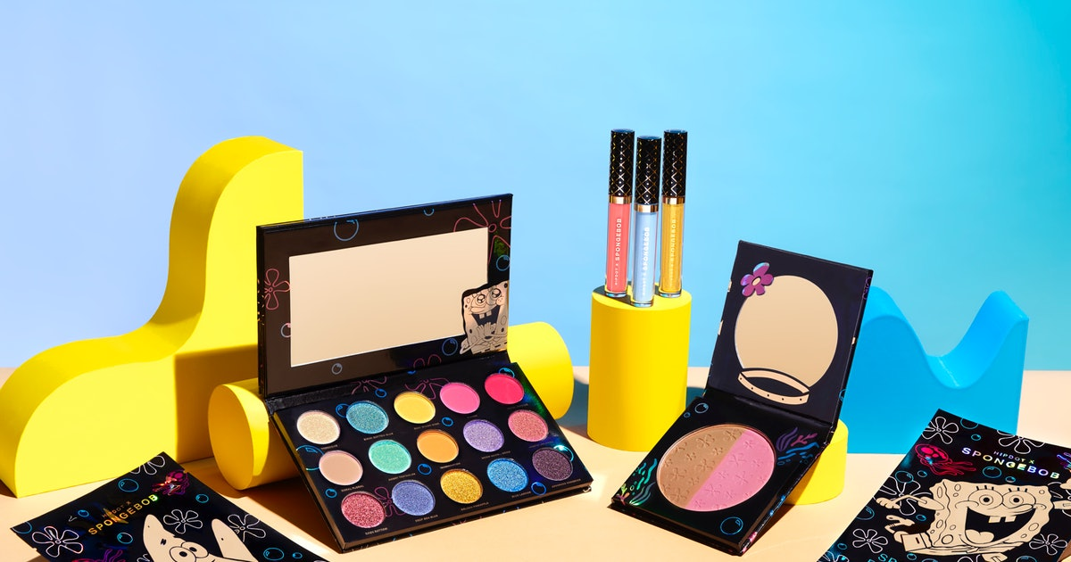 HipDot's SpongeBob Squarepants Makeup Line Highlights Patrick, Sandy & Yes, Even WUMBO