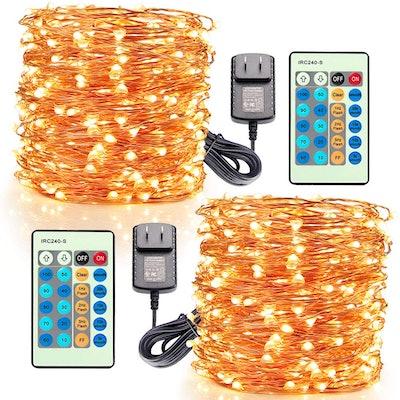Moobibear LED Decorative Fairy String Lights (Set of 2)