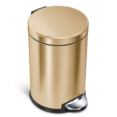 simplehuman Compact Stainless Steel Trash Can