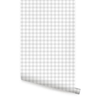 Gingham Check Pattern Peel & Stick Fabric Wallpaper
