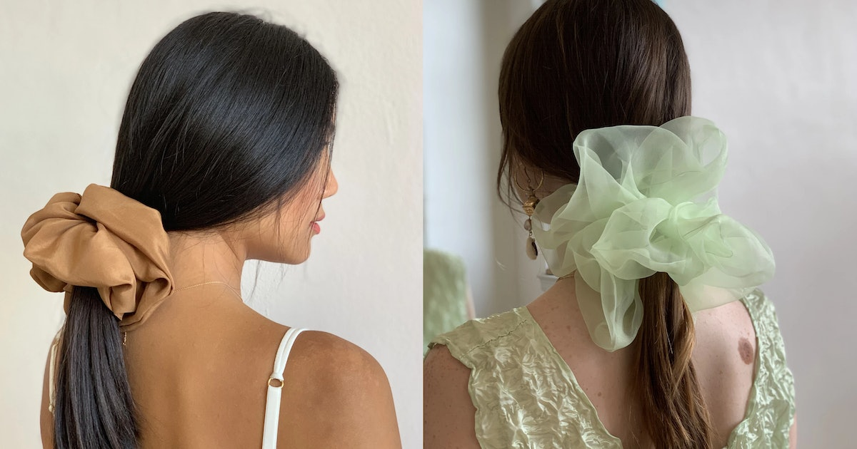 Room Shop Vintage's Cloud Scrunchies Are MASSIVE & Save Fabric From Landfills