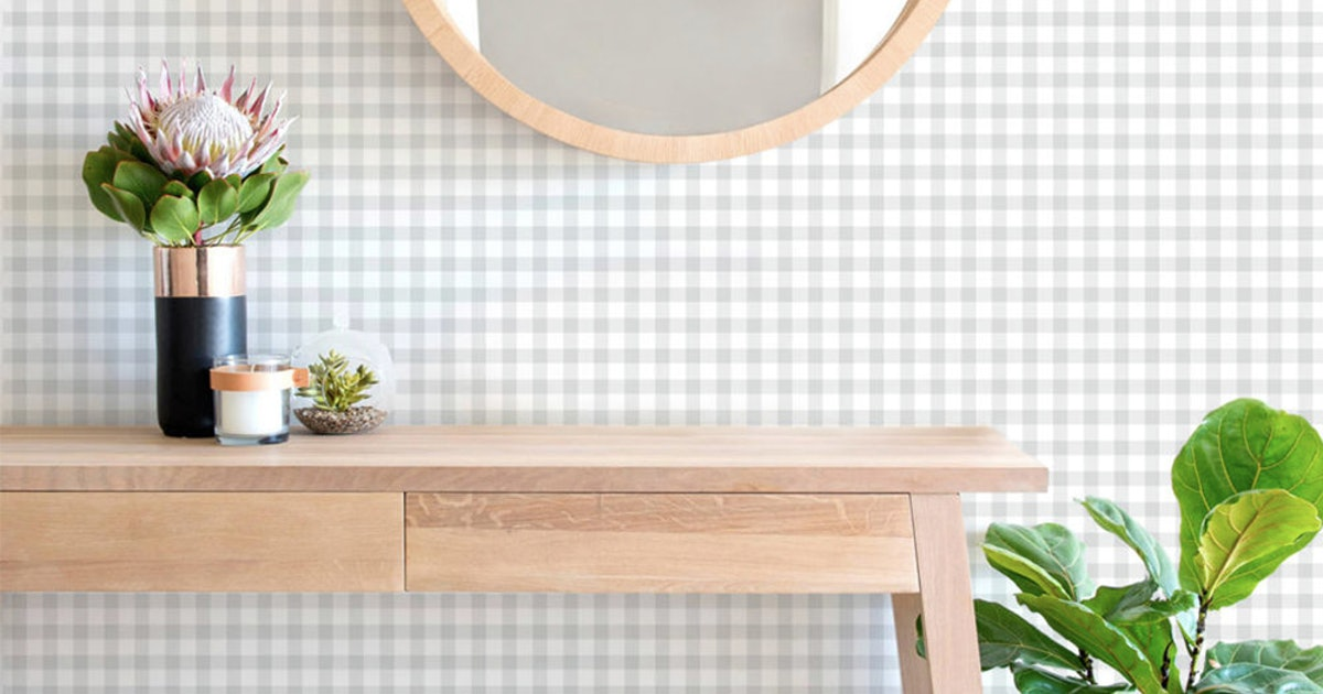 These Under-$50 Gingham Home Decor Pieces Will Keep Your Space Light & Bright Well Into The Fall