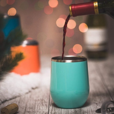 Maars Stainless Steel Stemless Wine Glass