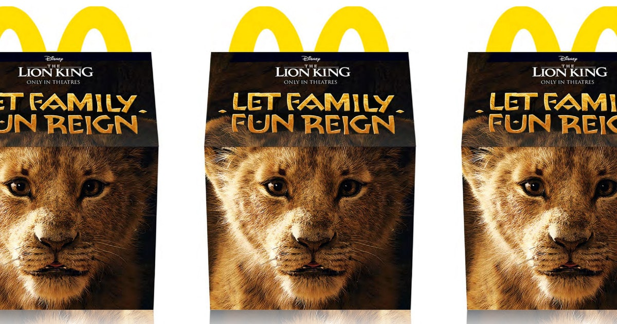 McDonald's Is Giving Away Free Trips To Disney World With 'Lion King' Happy Meals