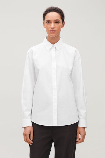 Oversized Cotton Poplin Shirt