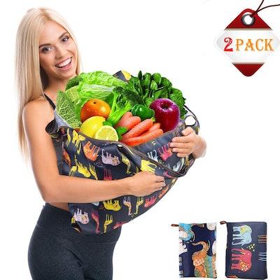 fengjida Reusable Grocery Bags (2 Pack)