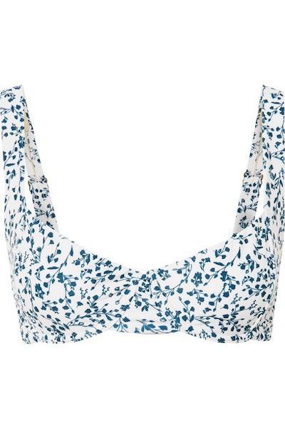Peony + NET SUSTAIN Floral-Print Underwired Bikini Top