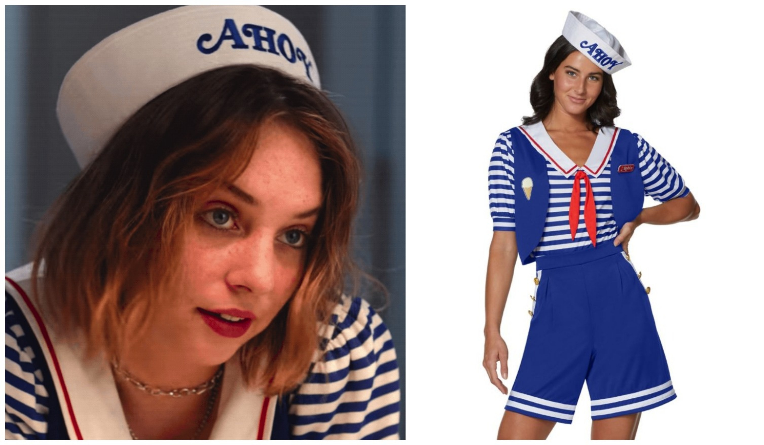 Attractive Adult Steve Scoops Ahoy Costume   Stranger Things