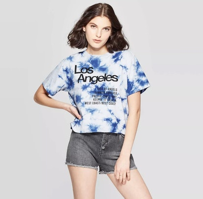 Women's Short Sleeve Los Angeles Cropped Graphic T-Shirt