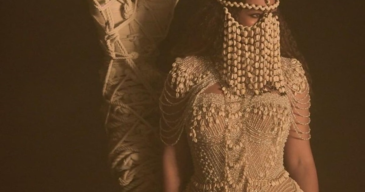 Beyoncé's Cowrie Shell Headpiece From The 'Spirit' Music Video Is Actually For Sale