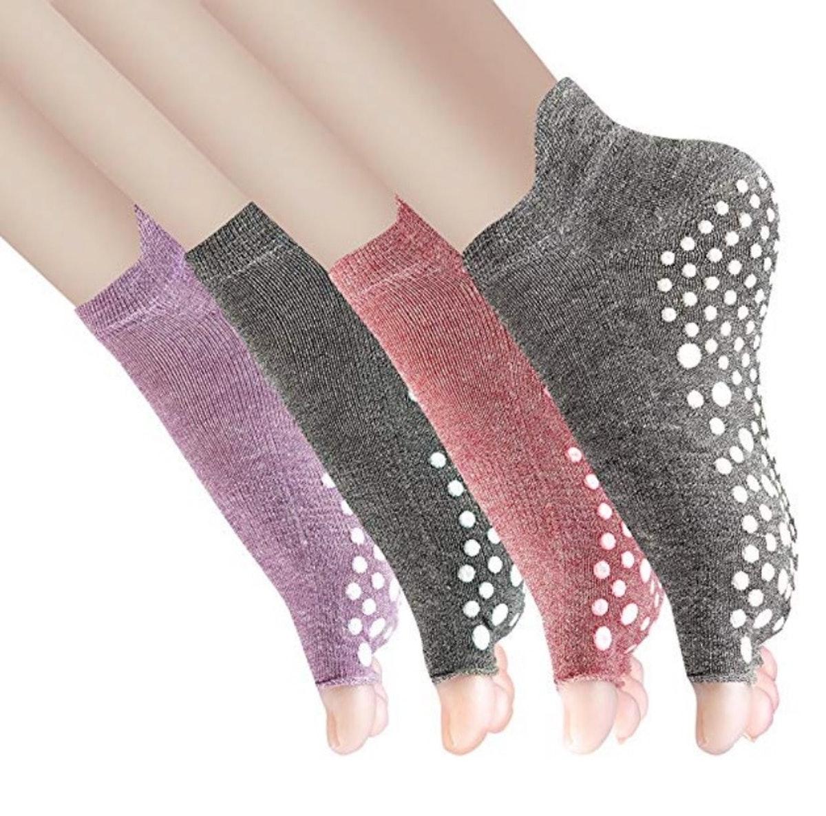 Cosfash Yoga Socks (4 Pack)