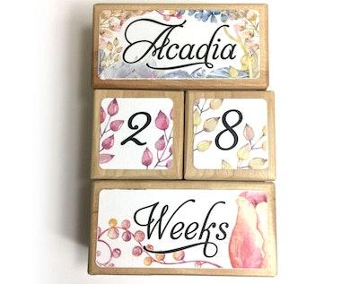 Floral Milestone Blocks