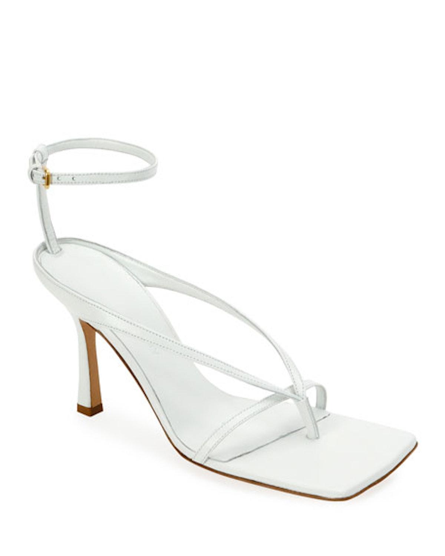 Square-Toe Thong Sandals