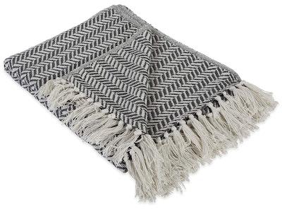 DII Modern Farmhouse Herringbone Blanket