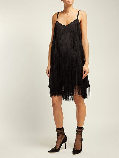 Long-Fringe Slip Dress