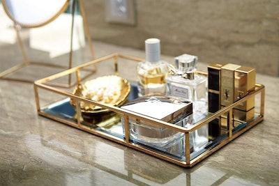 PuTw Mirrored Vanity Tray