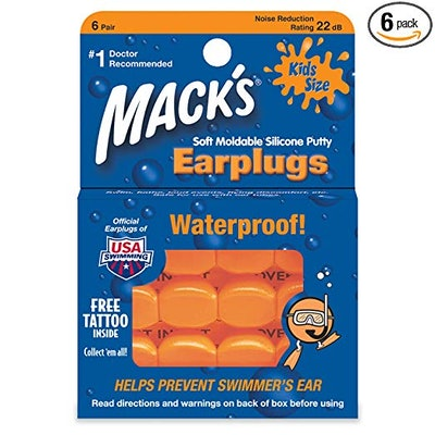 Mack's Moldable Silicone Ear Plugs, 6 pair