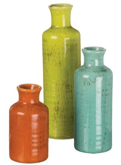 Sullivans Crackled Vases (Set of 3)