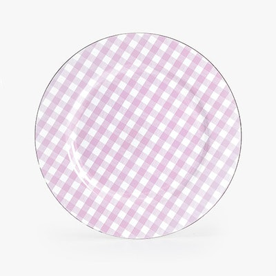 Lilac Gingham Charger Plate