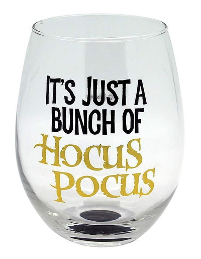 'Hocus Pocus' Stemless Wine Glass