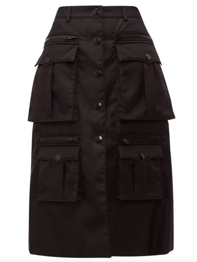 Statement Pocket Nylon Cargo Skirt