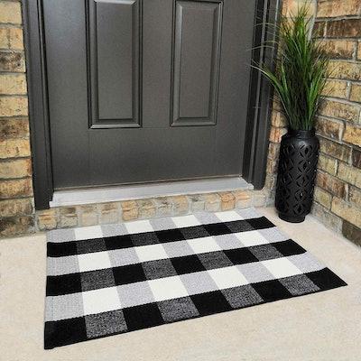 Checkmate Buffalo Plaid Doormat