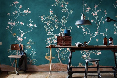 Chinoiserie Birds Wallpaper