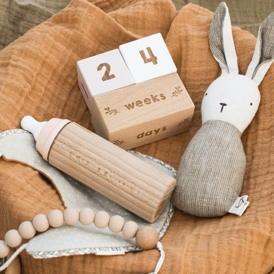 Wooden Milestone Blocks With Symbols