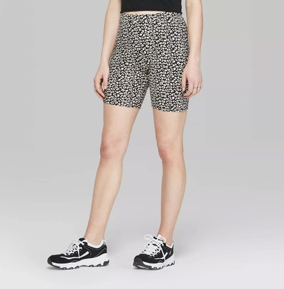 Women's Leopard Print High-Rise Bike Shorts