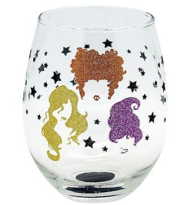 Sanderson Sisters Glittery Silhouette Stemless Glass
