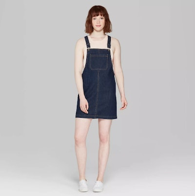 Wild Fable Women's Strappy Denim Pinafore Dress
