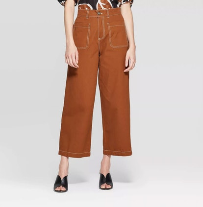 Women's Wide Straight Leg Ankle Length Pants