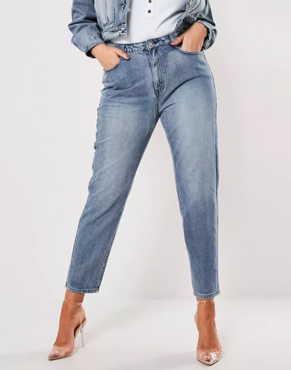 Plus-Size Blue Riot Co-Ord High-Waisted Denim Mom Jeans