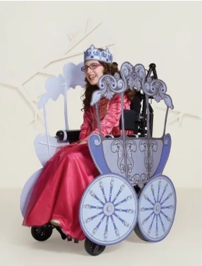 Adaptive Princess Carriage Halloween Costume Wheelchair Cover