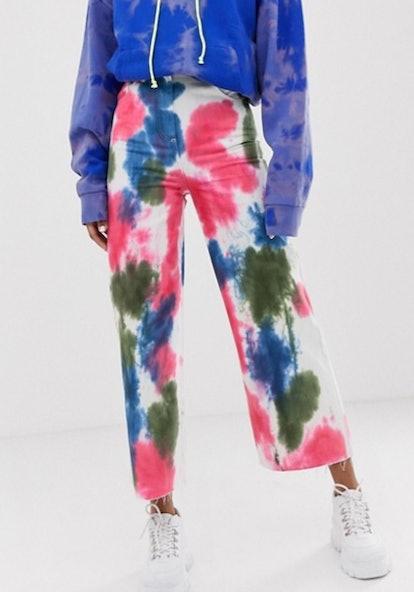 COLLUSION x007 Tie-Dye Wide-Leg Jeans
