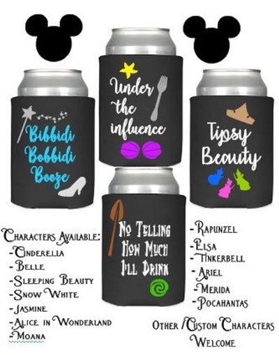 Disney Princess Character Inspired Can Coolers