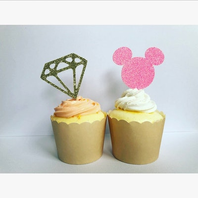 Disney Bachelorette Party Cupcake Toppers