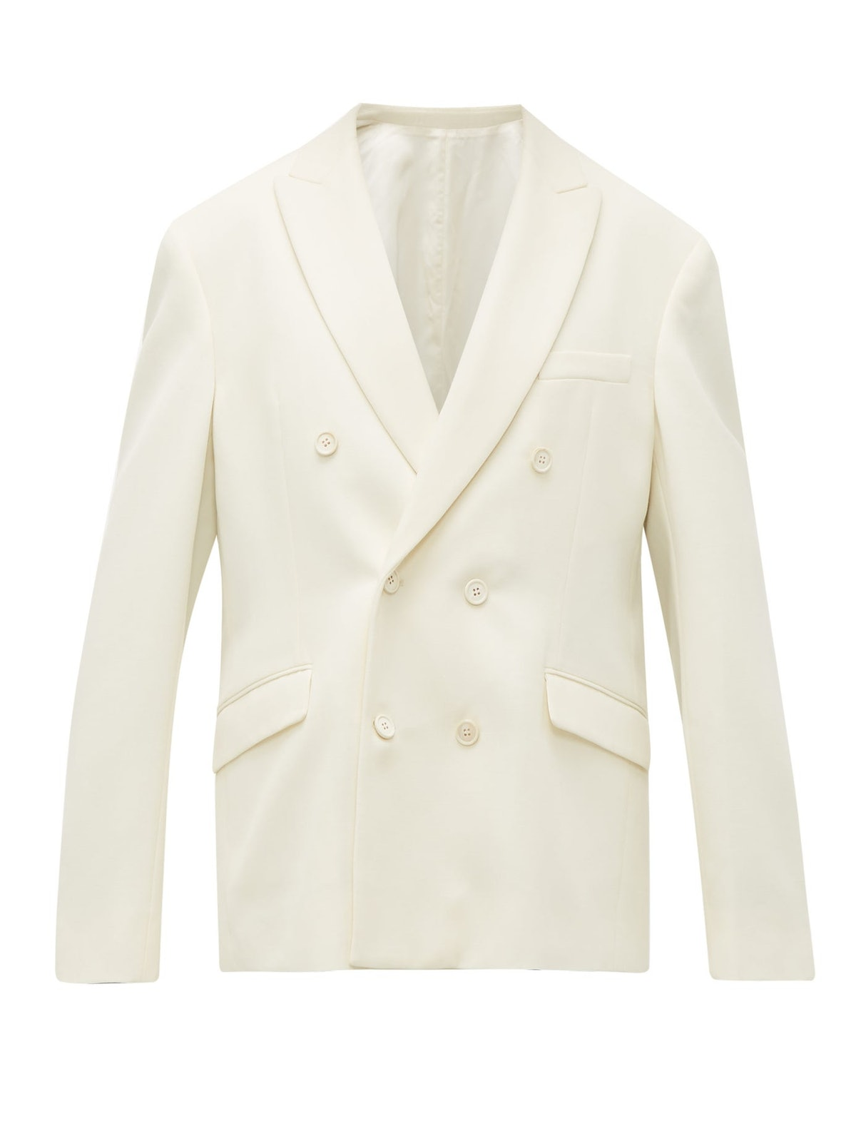 Double-Breasted Merino Wool Blazer