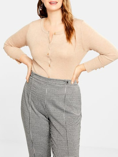 Buttons Speckled Cardigan