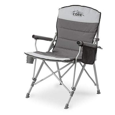 CORE 40021 Equipment Folding Padded Hard Arm Chair