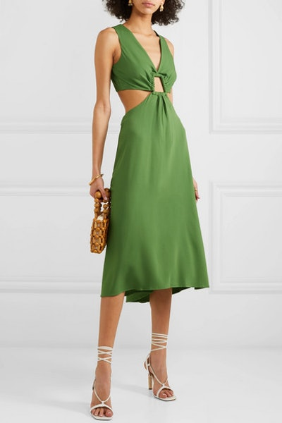 Cybele Cutout Crepe Dress