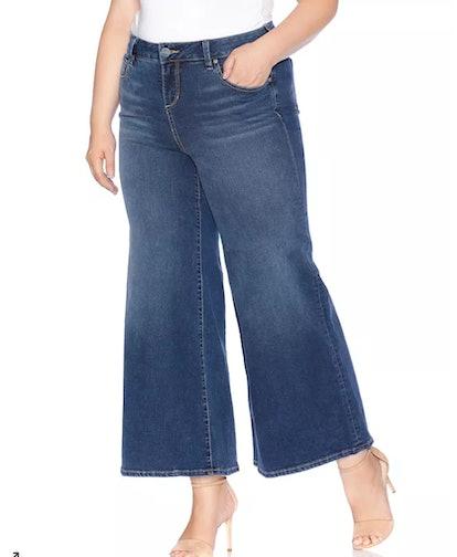 SLINK Jeans Plus Wide-Leg Jeans In Heather