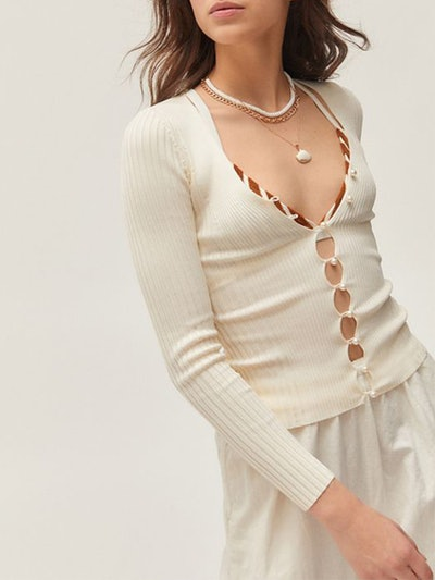 Bonnie Pearl Button-Up Sweater