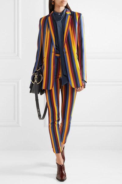 Striped Cotton And Wool-Blend Jacquard Blazer