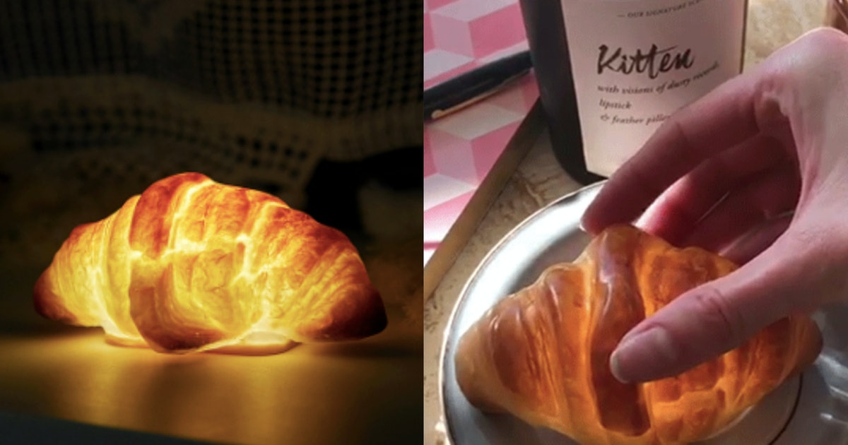 This Croissant Lamp From Catbird Is The Ideal Way To Wake Up In The Morning
