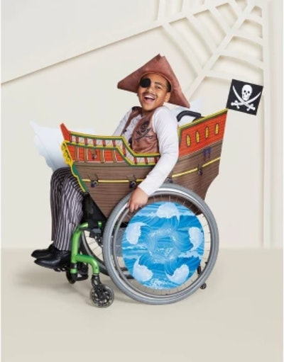 Adaptive Pirate Ship Halloween Costume Wheelchair Cover