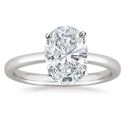 0.5 Carat Oval Cut Solitaire Diamond Engagement Ring