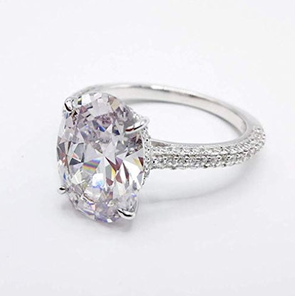 Oval Cut 5ct Solitaire Cubic Zirconia